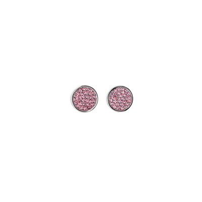 Ohrstecker Pavé Kristalle rosa