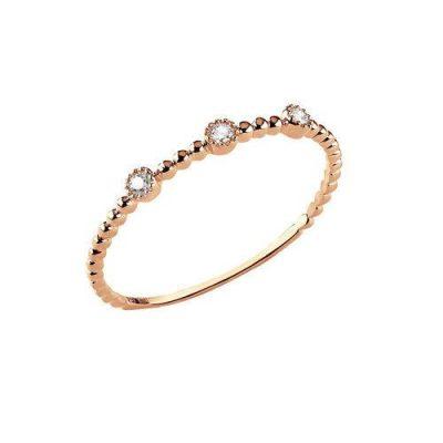 Ring Roségold 3 Brillanten