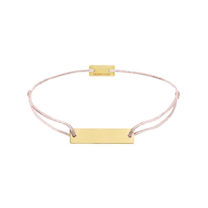Armband Gravur Plättchen Gelbvergoldet 20x5mm