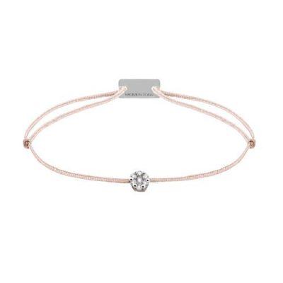 Armband Textil mit weiße Diamanten