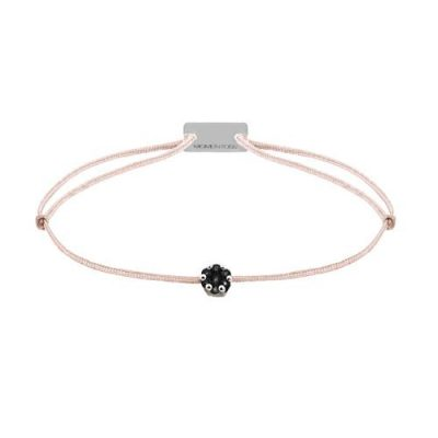 Armband Textil mit schwarze Diamanten