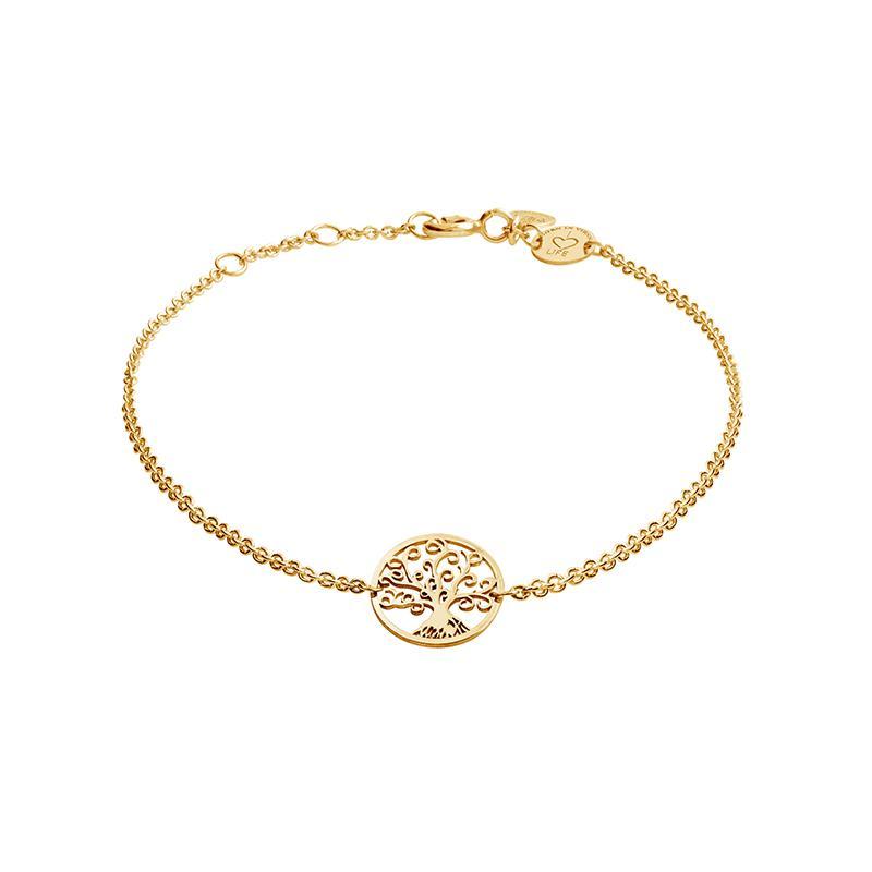 Armband Lebensbaum Gelbvergoldet