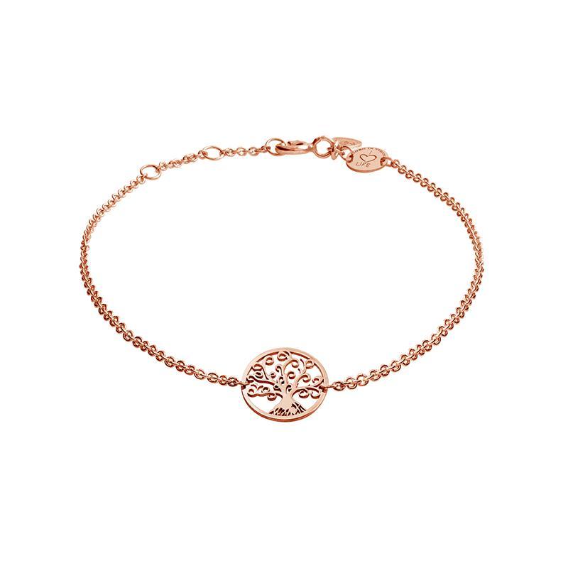 Armband Lebensbaum Rosévergoldet