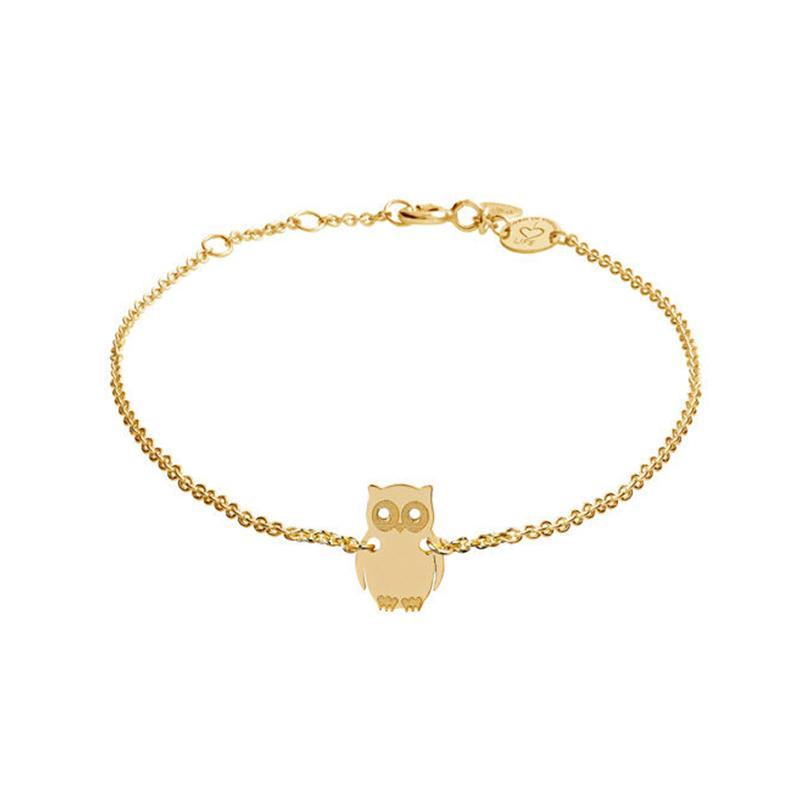 Armband Eule Gebvergoldet