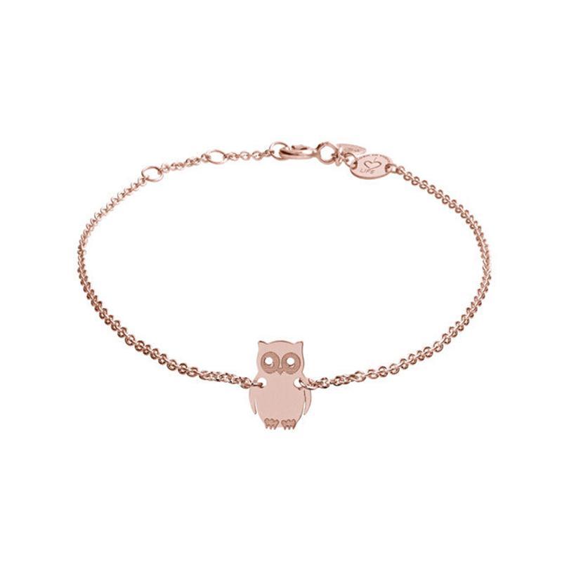 Armband Eule Rosévergoldet