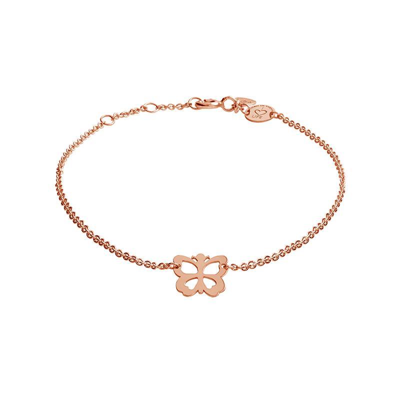 Armband Schmetterling Rosévergoldet