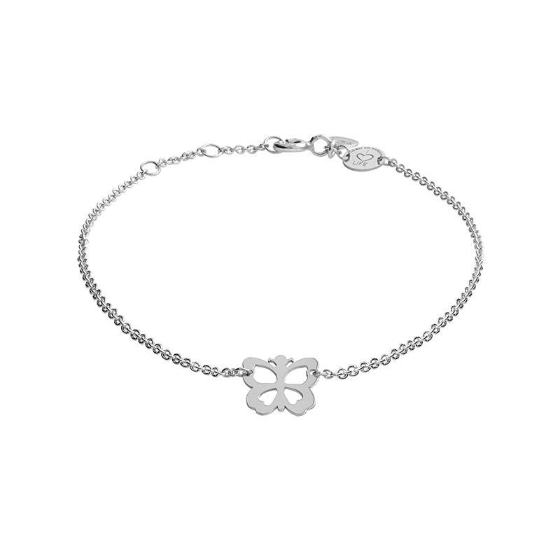 Armband Schmetterling Silber Rhodiniert