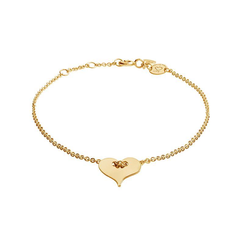 Armband Herz Silber Gelbvergoldet