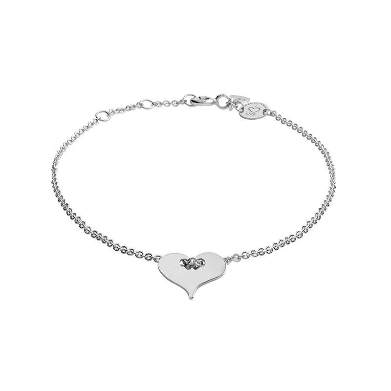 Armband Herz Silber Rhodiniert