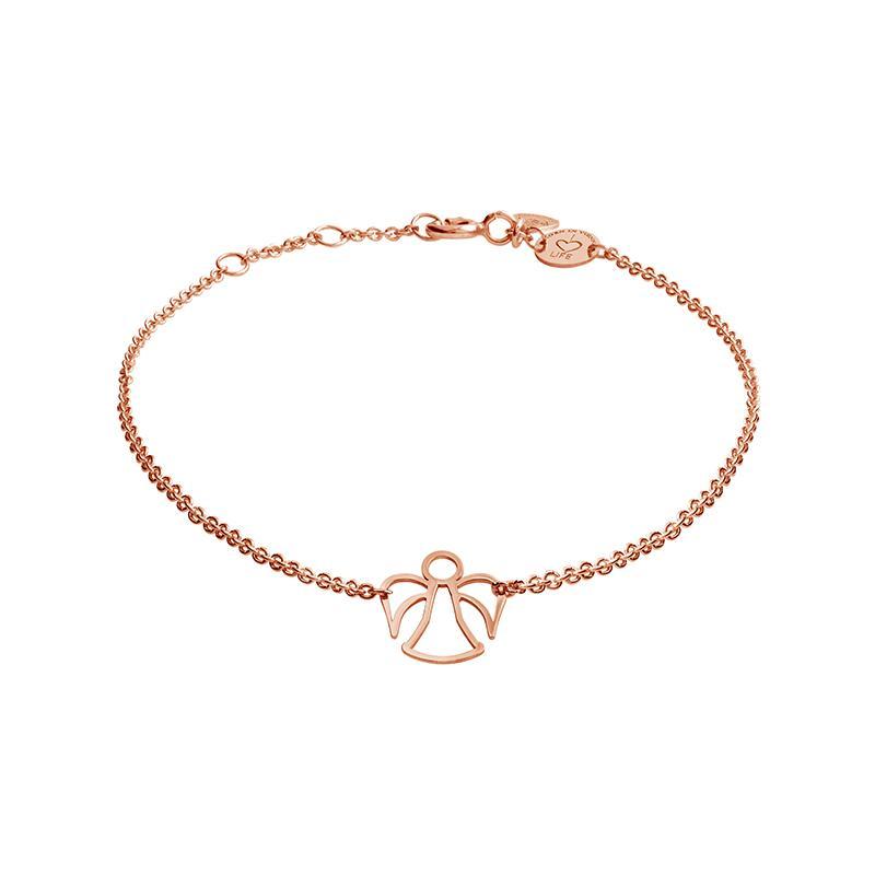 Armband Engel Silber Rosévergoldet