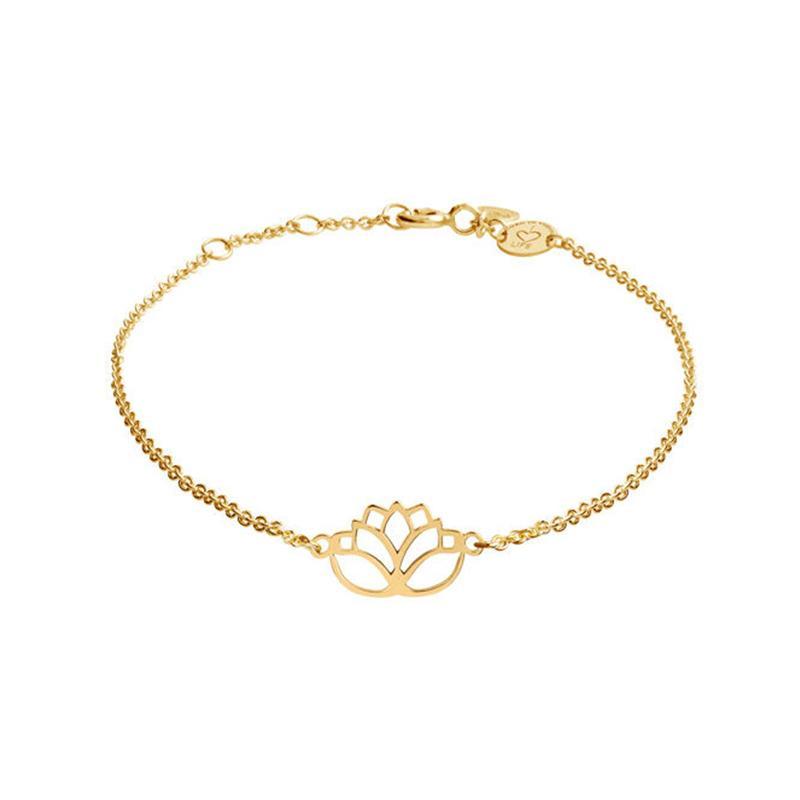 Armband Lotus Gelbvergoldet