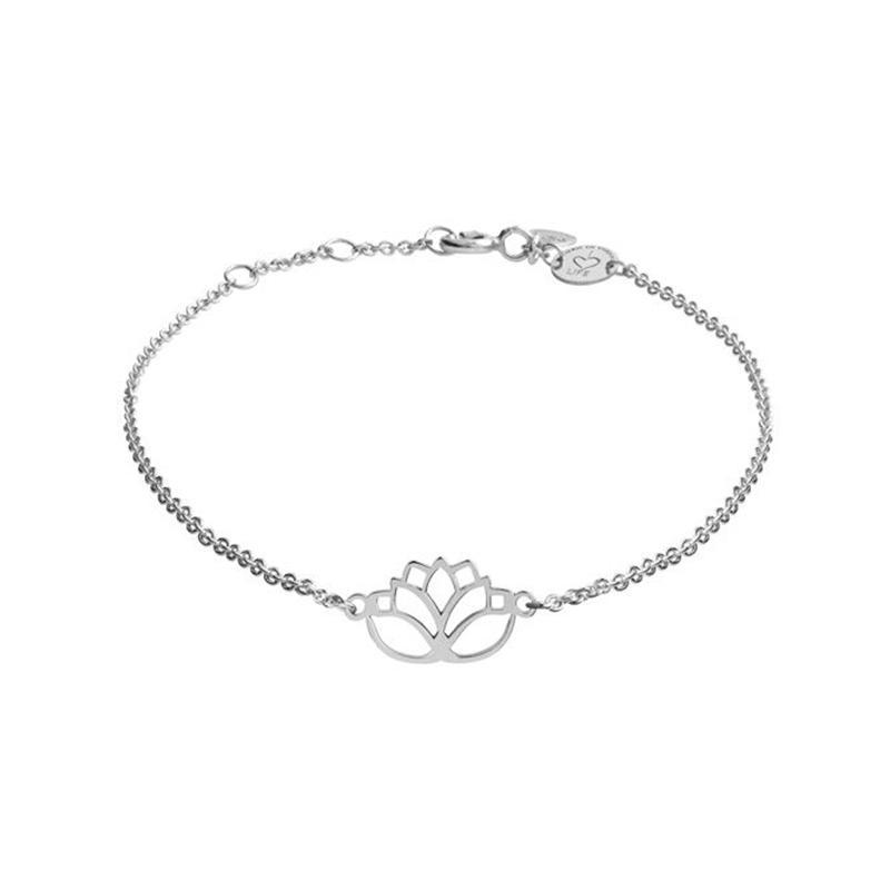 Armband Lotus Silber Rhodiniert