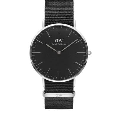 Cornwall Classic Black 40mm Silver