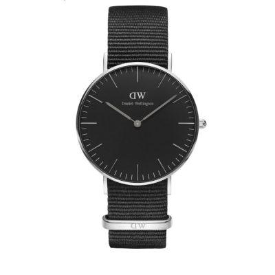 Cornwall Classic Black 36mm Silver