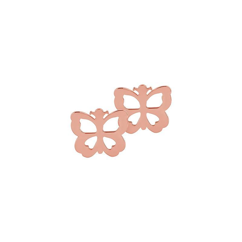 Ohrstecker Schmetterling Silber Rosévergoldet