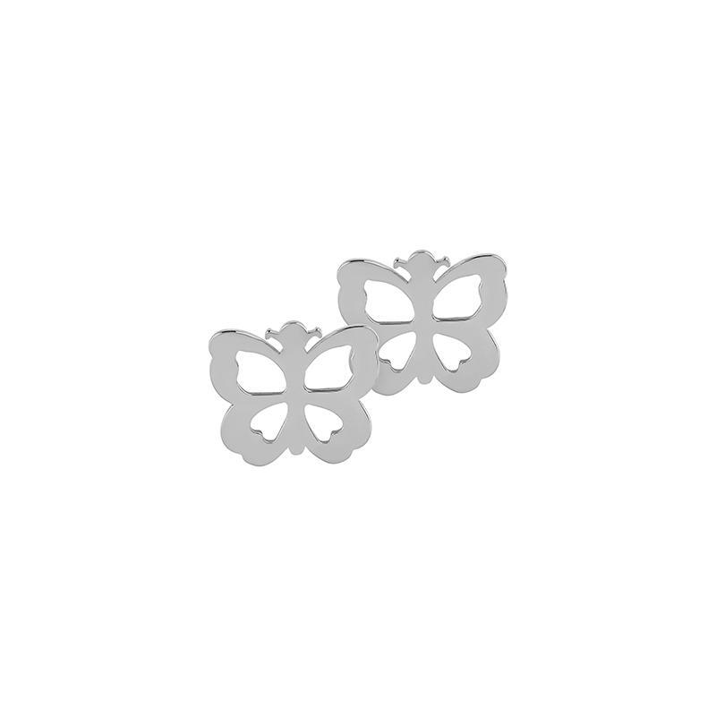 Ohrstecker Schmetterling Silber Rhodiniert
