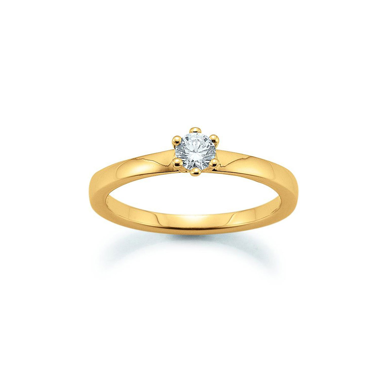 Solitär Ring 585 Gelbgold 0,25ct