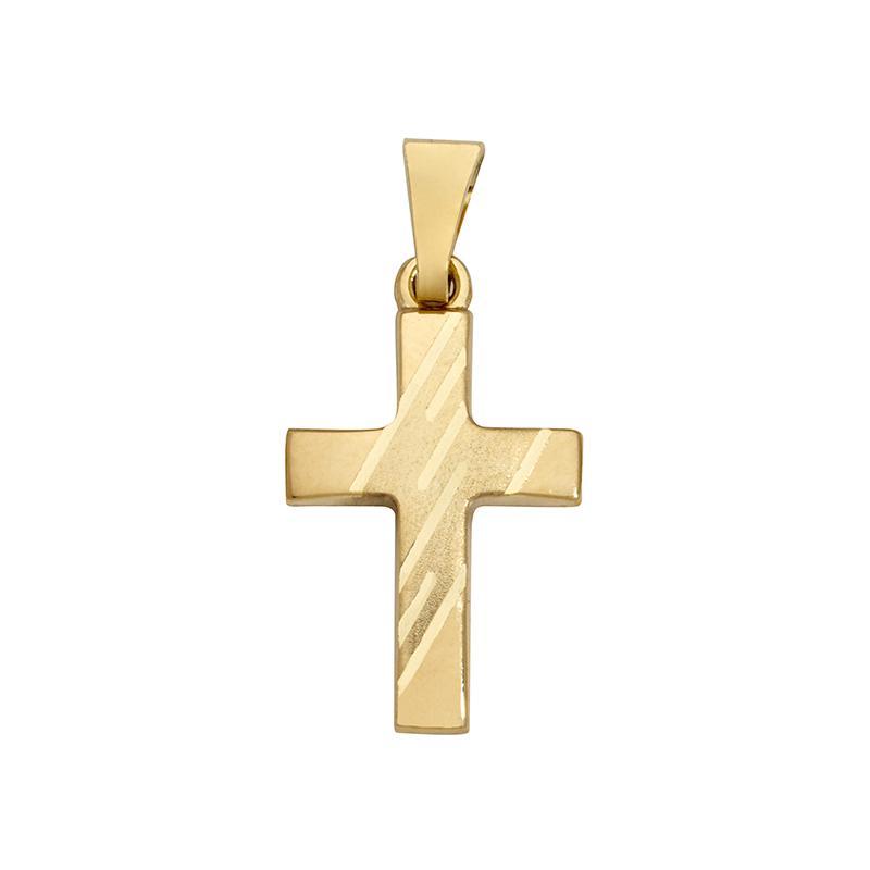 Kreuzanhänger Gelbgold