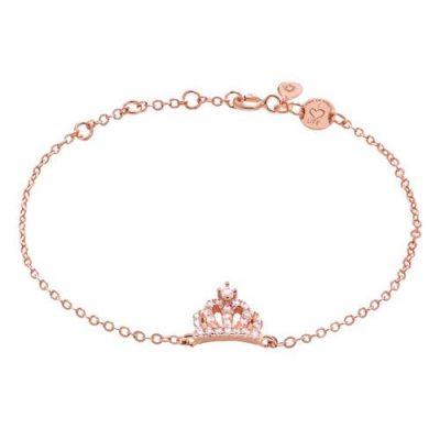 Armband Krone Zirkonia Silber Rosévergoldet