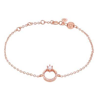 Armband Princess Zirkonia Silber Rosévergoldet
