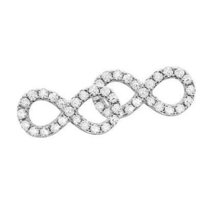 Ohrstecker Infinity Zirkonia Silber
