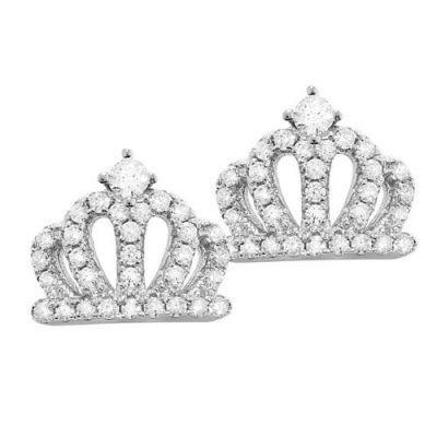 Ohrstecker Krone Zirkonia Silber