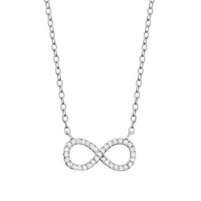 Halskette Infinity Zirkonia Silber