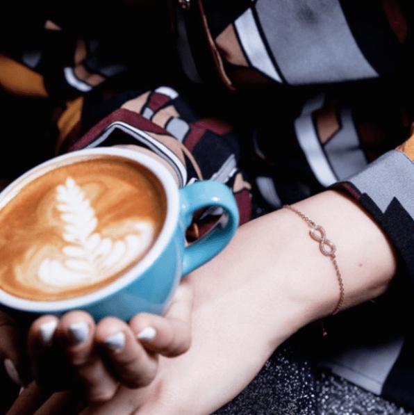 Armband Infinity Zirkonia Silber Rosévergoldet