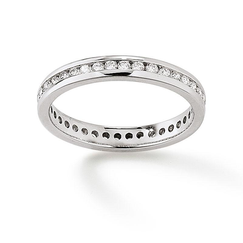 Memoire Ring 585 Weißgold 0,50 ct