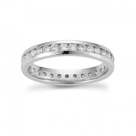 Memoire Ring 585 Weißgold 0,75 ct
