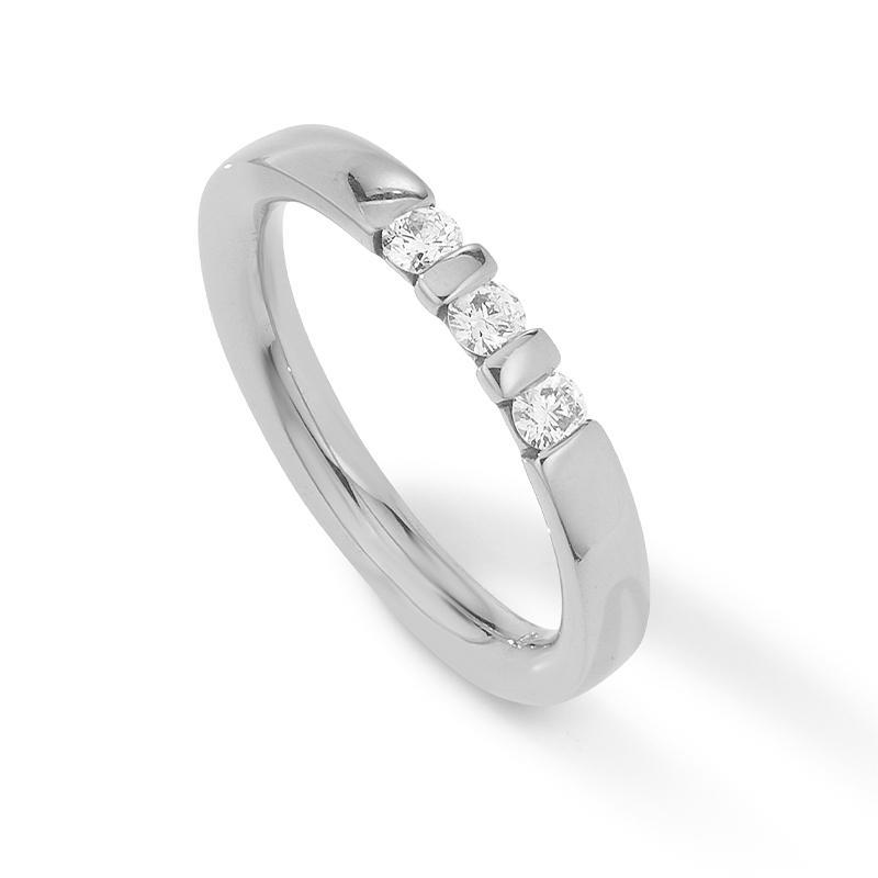 Palido - Memoire Ring Weißgold 585 0,23ct