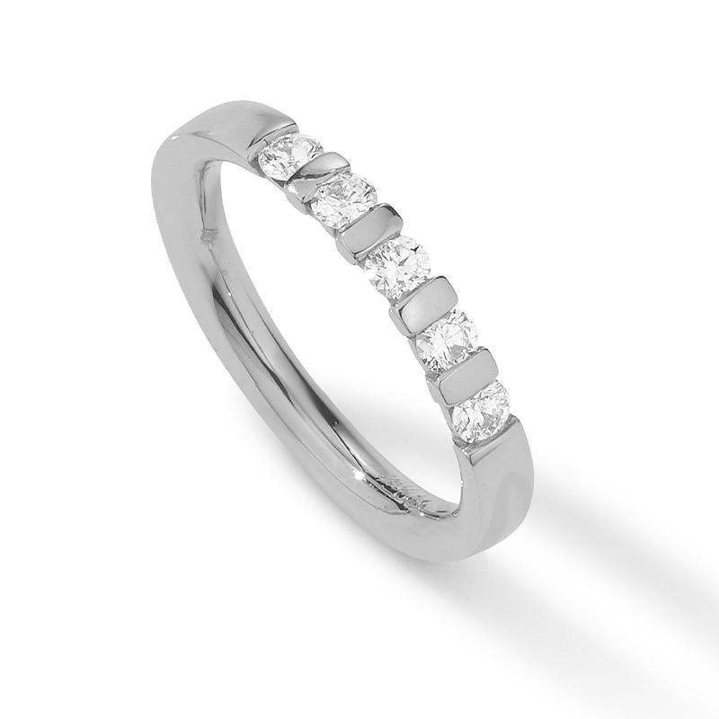Memoire Ring 585 Weißgold 0,37 ct