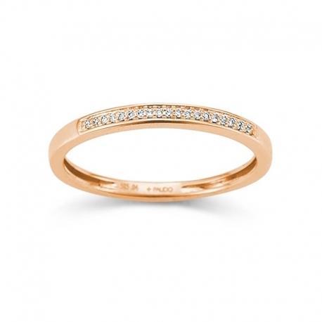 Palido - Memoire Ring Rotgold 585 0,04ct
