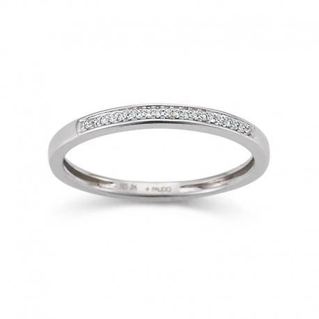 Palido - Memoire Ring Weißgold 585 0,04 ct