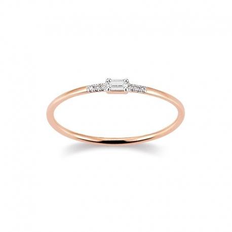 Ring 585 Rotgold 0,03 ct