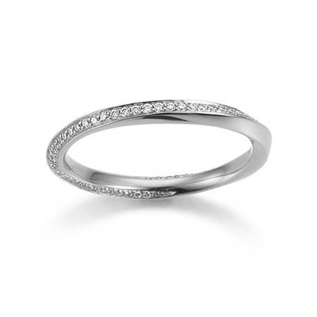 Memoire Ring 750 Weißgold 0,19 ct