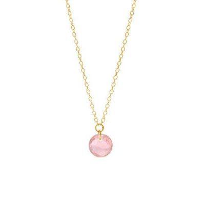 Halskette 18kt Gelbgold mit Turmalin Rosa