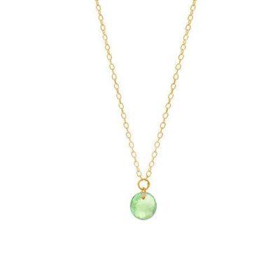 Halskette 18kt Gelbgold mit Turmalin Hellgrün