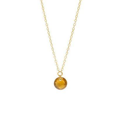 Halskette 18kt Gelbgold mit Turmalin Champagne