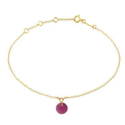 Armband 18kt Gelbgold mit Rubin