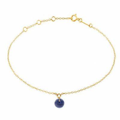 Armband 18kt Gelbgold mit Saphir