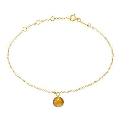 Armband 18kt Gelbgold mit Turmalin Champagne