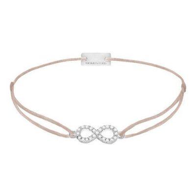 Armband Infinity Pavé Silber
