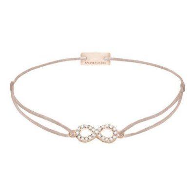 Armband Infinity Pavé Silber Rosévergoldet