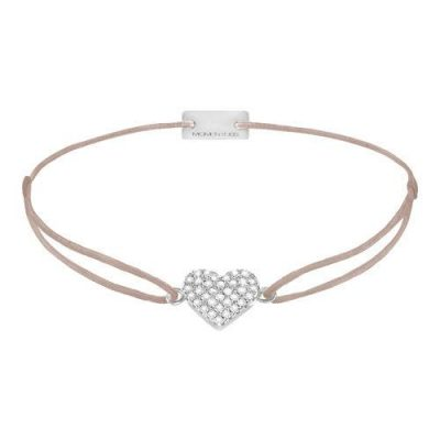 Armband Herz Pavé Silber
