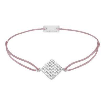 Armband Quadrat Pavé Silber