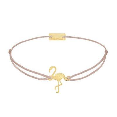 Flamingo Silber Gelbvergoldet