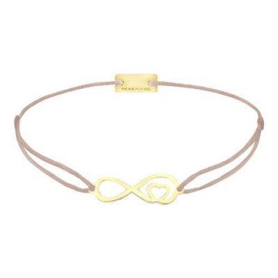 Infinity mit Herz Silber Gelbvergoldet