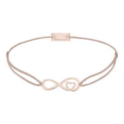 Infinity mit Herz Silber Rosévergoldet