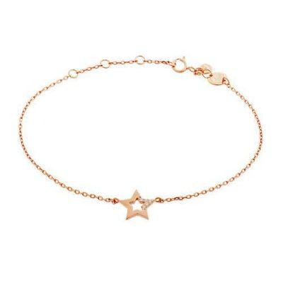 Armband Stern Zirkonia Silber Rosévergoldet